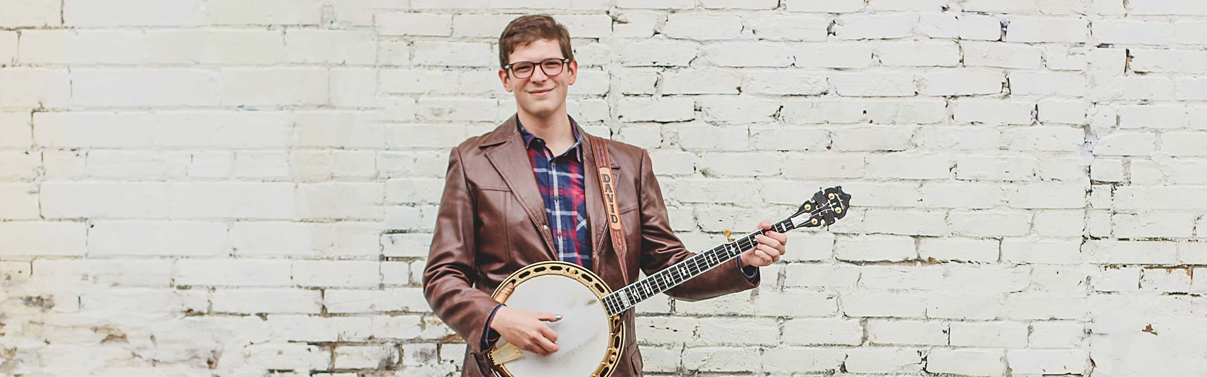 David Robinson with a banjo
